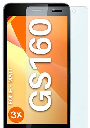 moex Schutzfolie matt kompatibel mit Gigaset GS160 - Folie gegen Reflexionen, Anti Reflex Bildschirmschutz, Matte Bildschirmfolie - 3X Stück
