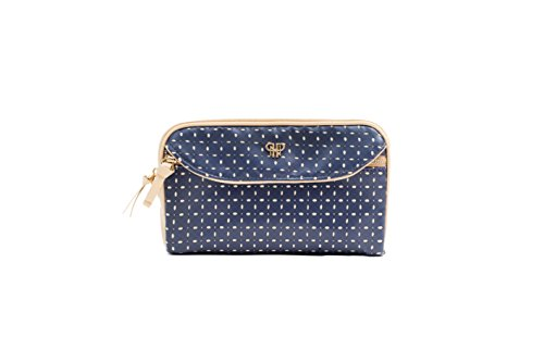 PurseN Clutch Makeup Travel Organizer Lipstick Beauty Case Blue Dunes