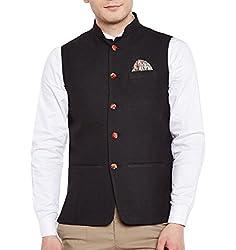 Wintage Mens Linen Blend Grandad Nehru Jacket Vest Waistcoat