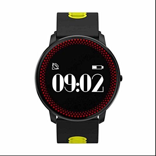 Fitness Tracker polso da Orologio Smart Braccialetto Bluetooth,Fitness Tracker,Anti-sueur,Contapassi,Integrato Rilevazione,Calorie Counter,Tracker Sonno/Telecomando Acquisizione/Notifiche Chiamate SMS Whatsapp Compatibile
