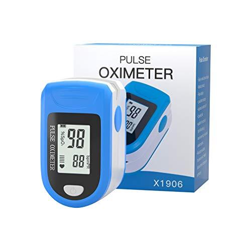YKSO Finger-Saturenmesser mit Sauerstoffsättigung, Tragbarer Digitales Mehrzweck-Messgerät Puls-Messer mit LCD-Display Fitness Haushalt und Extremsport, Leichtes, Kompaktes (SG900600)