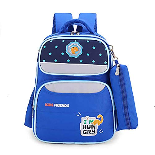 Qinlee Zaino impermeabile per la scuola elementare, per ragazze, per viaggi, grande regalo di compleanno (blu scuro)