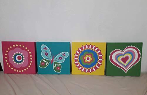 Cuadro 4 Piezas Mariposa  marca Galería Oneris