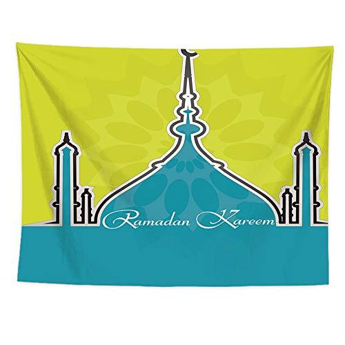 Sunhao Tafelkleden, tapijt, digitale print, tapijt, wand-plafond, badhanddoek, tafelkleed, Arabische islamitische Ramadan-serie 150 x 130cm B