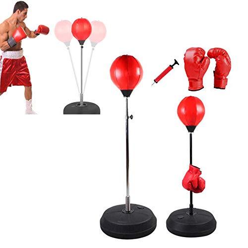 ZSJZSJ Boxen Stanzen Geschwindigkeit Ball Boxsack Ziel Trainingsturm für Boxen Reaktion Geschwindigkeit Kick Training Fitness Druck Entlastende Kraft für Jugendliche und Erwachsene,Adults