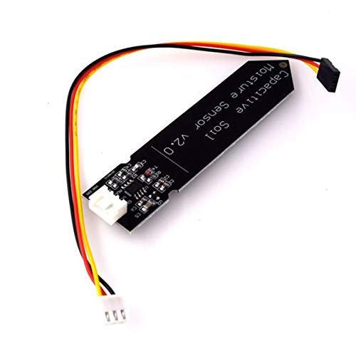 CamKpell Hw-390 Capacitive Soil Moisture Sensor Not Easy To Corrode Wide Voltage Operation Wire Feeding Black - black