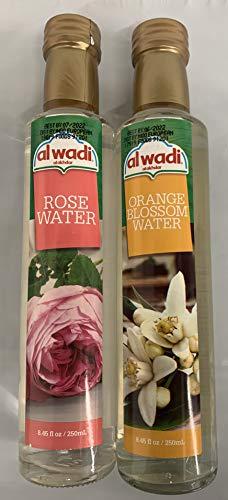 Al Wadi Orange Blossom & Rose Water Bundle - 8.45 fl oz (1 Bottle of Each)