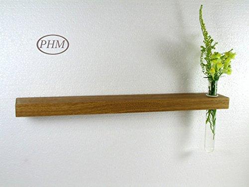 Mini Wandregal mit Vase Eiche 40 cm