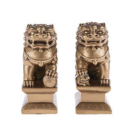 Perros FU (OU Leones Chinois) – Feng Shui Protección Hogar – El par