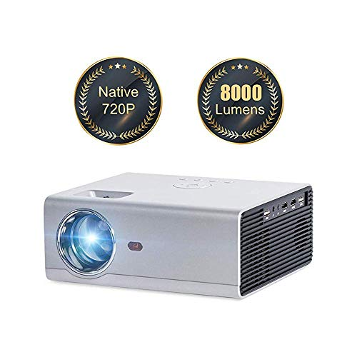 Projector WiFi Projector Supports 1080P 150 Inches 8000 S Compatible with Smartphone/Tablet / PS4 / PC/Hdmi/USB/Vga/Av