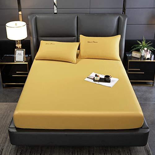haiba sábana de cama cama doble microfibra cepillada y antiarrugas, sola pieza, 200cmx220cm +25cm
