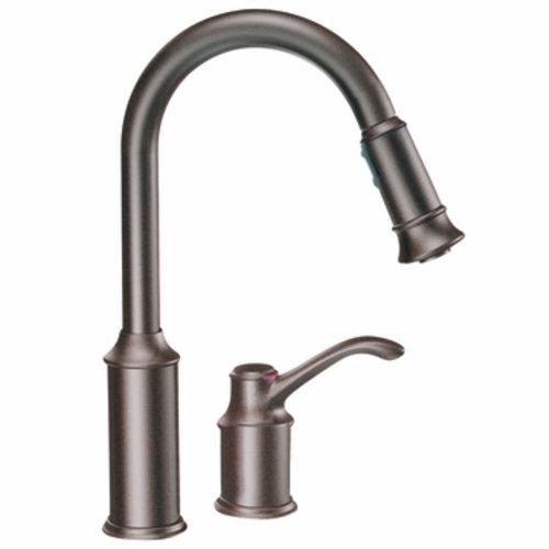 Big Sale Best Cheap Deals Moen CA7590ORB Aberdeen One-Handle High Arc Pulldown Kitchen Faucet, Oil Rubbed Bronze