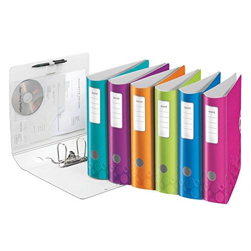 Esselte-Leitz 11060099 Active WOW Qualitäts-Ordner 180° (A4, Polyfoam, Breit) 1 Stück, farblich sortiert