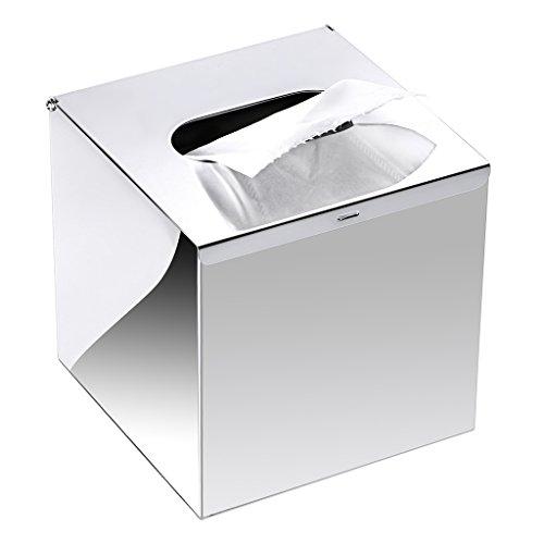 polished chrome tissue box cover - 5