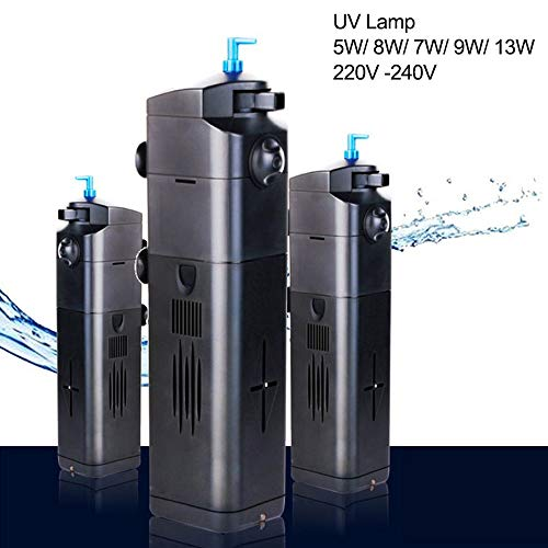 Hengyuanyi 4 in 1 UV Sterilizer Submersible Filter Pomp Vistank Binnen met 7/9/13 W UV Lamp Submersible Waterpomp Aquarium Zuurstoffilter