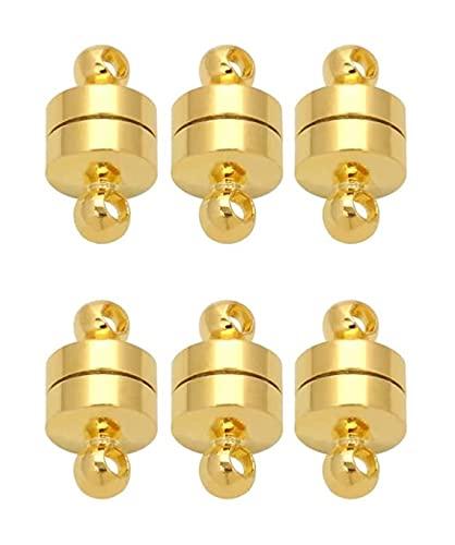 LIXBD - 10 chiusure magnetiche per gioielli con chiusura magnetica, per collane e bracciali, accessori per fai da te e fai da te, gioielli (bianco) (colore: Oro)