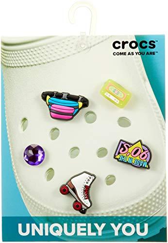 Crocs 90s Symbols 5 Pack, Encantos para zapatos Unisex Adulto, multicolor, Talla única