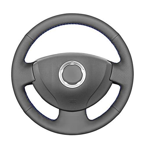 Cubierta de Volante Cubierta de volante de cuero artificial de cuero artificial de PU para Renault Logan 1 SANDERO 1 CLIO 2 LADA LARGUS 1 NISSAN ALMERA 3 G15 (Color Name : Red thread)