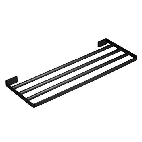 XJJZS Acero Inoxidable Estante Muebles de baño Estante de múltiples Funciones de Almacenamiento en Rack Negro Ducha de Toallas en Rack