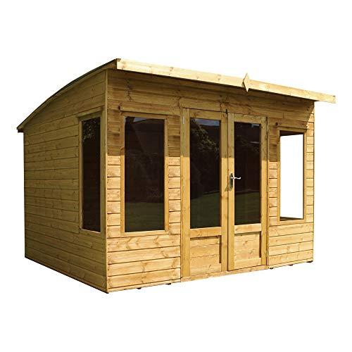 WALTONS EST. 1878 Wooden Summerhouse 10x8 Outdoor Garden Room Building, Sunroom, Studio, Office (10 x 8 / 10Ft x 8Ft)
