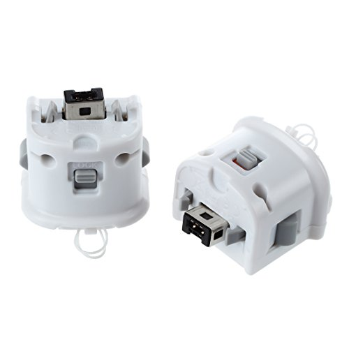 Gaoominy 2 x Motion Plus Adapter Sensor Fuer Remote Controller Weiss