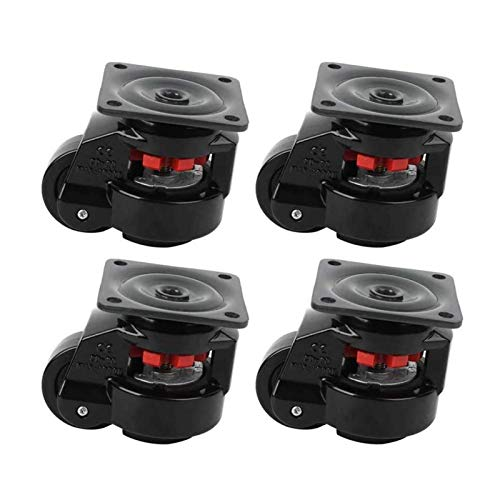 N/Z Daily Equipment Casters Leveling Caster Wheels Good Durability Leveling Caster Long Service Life for Large Machine Movement Moving Work Tables Move Weld