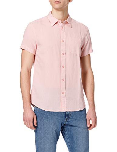 Wrangler Pocket Shirt Camisa, Color Rosa Plateado, M para Hombre