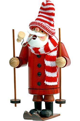 yanka-style - Bruciatore per affumicatura, Motivo: sciatore Altezza: 18 cm, in Legno, Regalo Natalizio (30116-18)