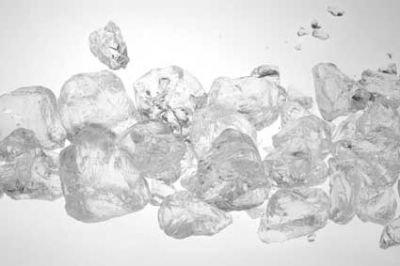 Glas-Steine (Glas-Granulat groß, 25-30 mm), 1 kg, natur-klar