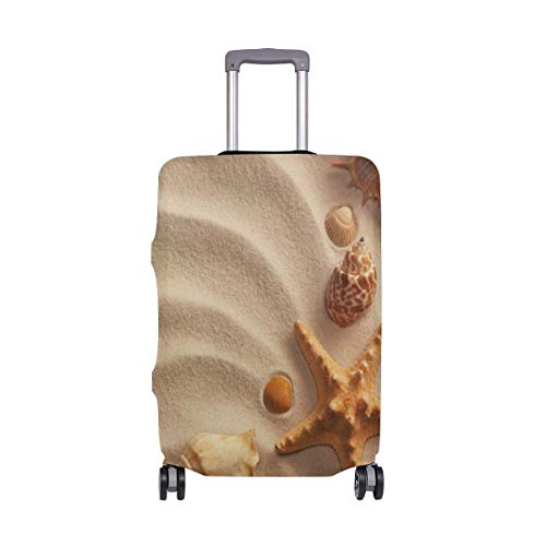 Summer Beach Sand Seashell Starfish Luggage Cover Baggage Suitcase Travel Protector LGC-220 Size M