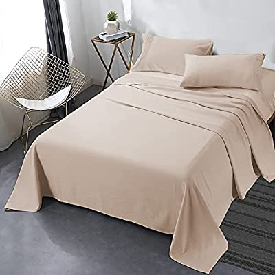 """Secura Everyday Luxury Queen Bed Sheet Set 4 Piece - Soft Microfiber 1800 Thread Count 16"""" Deep Pocket Sheet Sets - Hypoallergenic, Wrinkle & Fade Resistant (Papaya Whip)"""