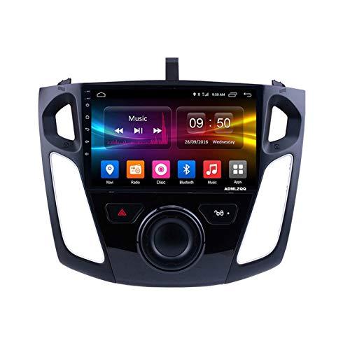 ADMLZQQ 9 Pulgadas Android 10.0 Navegación GPS Radio Coche para Ford Focus 2012-2018, FM/RDS/Bluetooth/Música/Cámara De Visión Trasera/Controles del Volante,4 Core,WiFi: 2+32G
