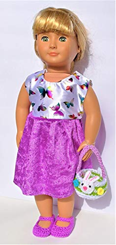 Tights White Lavender Hearts 18 in American Girl Doll Accessories Valentine Gift