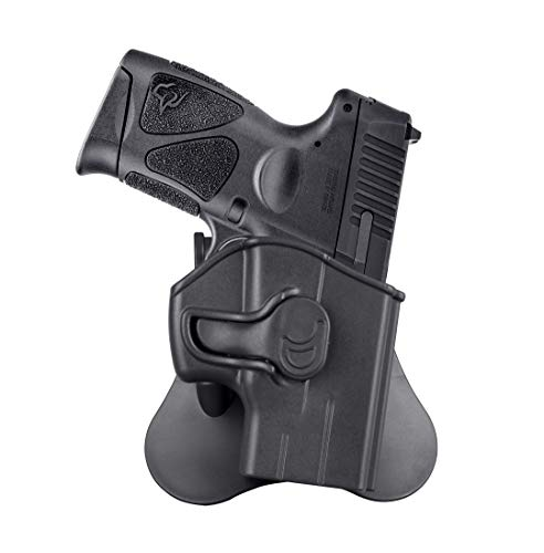 G3C 9MM Holster for Taurus G3/G2C/G3C/G2 PT111/PT132/PT138/PT140, Taurus TX22, Open Carry G3 Holster, Tactical G2C Gun Holster, 360° Adjustable OWB Paddle - Right Handed