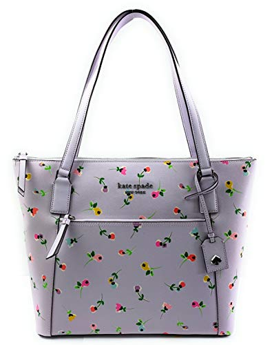 Kate Spade New York Cameron Pocket Womens Saffiano Leather Tote (Wildflower ditsy multi)