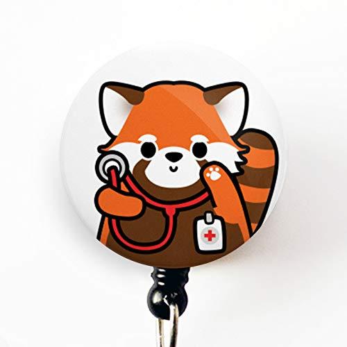 Work Id holder Badge ID badge holder Id Badge badge holder Work Id Badge Badge Reel Geeky Red Panda Badge Reel Red Panda Badge Reel