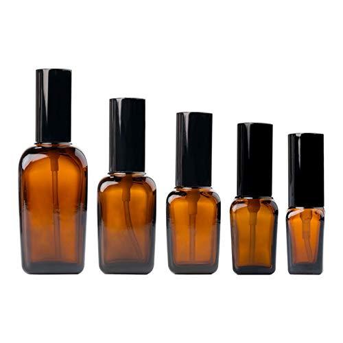 QHKS 1PCS bruine glazen leeg Parfum Spray Bottle 10ml-100ml Fine Mist verstuiver hervulbare flessen flesje for etherische olie cosmetische (Color : Pressure Pump, Specifications : 30ml)
