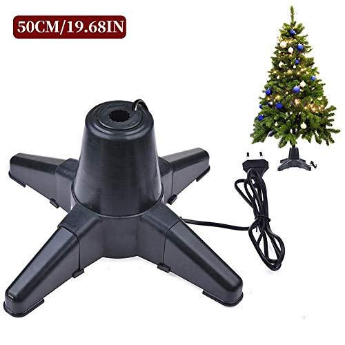 Easy-topbuy Elektrischer Weihnachtsbaumständer, Drehbarer Baumsockelhalter, 360-Grad-Drehung / 70 Sekunden, Für Stammdurchmesser Innerhalb Von 2,2 cm