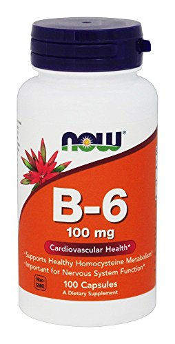 VITAMINA Now Foods Vitamin B-6 100 mg 100 Capsule NOW0456