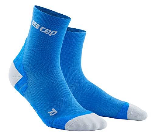 CEP – Ultralight Compression Short Socks für Herren | Kurze Sportsocken mit Kompression in Cyan/hellgrau | Größe IV