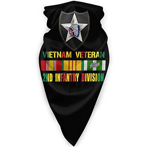 Vietnam Veteran nd Infantería División Unisex a prueba de viento deportes bufanda al aire libre cuello calentador bandana pasamontañas headwear