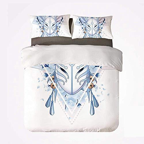Kabuki Mask Decor Bettbezug-Set