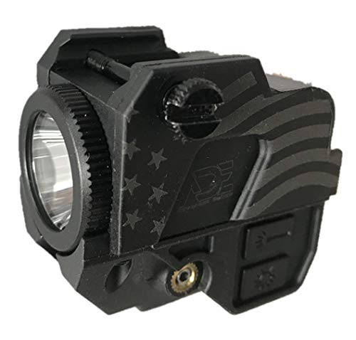 Ade Advanced Optics LS007G-2 USB Magnetic Contact Charging Green Laser Sight + 200 Lumen LED Flashlight