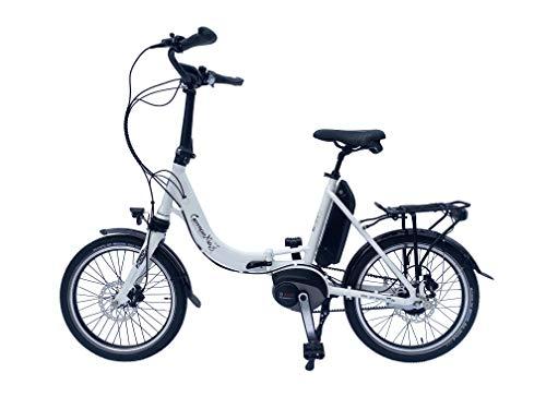 Premium GermanXia E-Bike Faltrad/Klapprad Mobilemaster Offroad cm 8G Nabenschaltung GT Bosch Mittelmotor (Weiß mit Rücktritt, Gates Carbon Riemen)