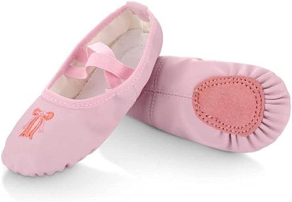 Girls Ballet Shoes,Dance Slippers Ballet Flats Split Sole Dance