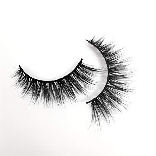 Alysays Easy to Carry 5/7/10 Paare von 3D-Wimpern handgefertigte natürliche Langen künstliche Mink-Wimpern unordentlich falsche Wimpern-Erweiterungs-Make-up Beautiful (Color : G203A)