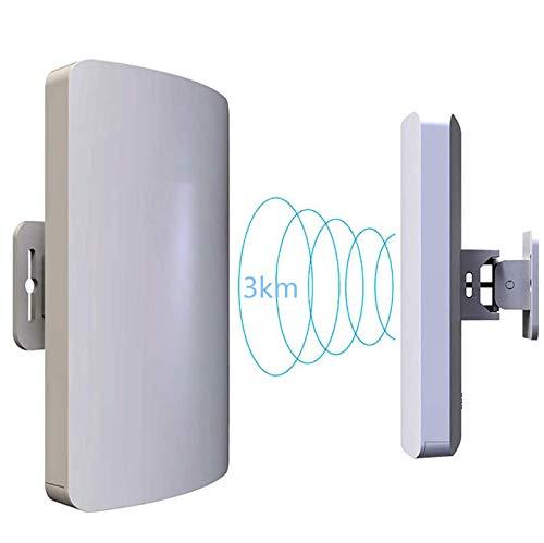 WYLYJT 5.8Ghz Y 2Ghz Wireless Outdoor Ap/Client Bridge/cpe, Velocidad De Transmisión De 300Mbps, Antena Direccional, Gran Alcance, Punto a Punto, Ip65, 23Dbm, 11Dbi
