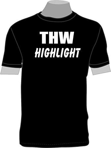 THW Highlight; T-Shirt; schwarz; Unisex; 46; Gr. S