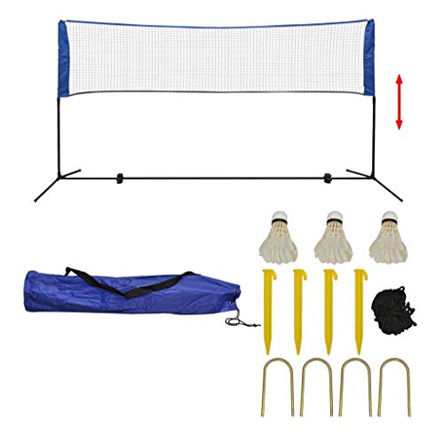vidaXL Badmintonnetz mit Tasche 3 Bälle 300x155 cm Federballnetz Volleyballnetz