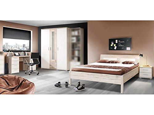 möbel-direkt Jugendzimmer Beach Komplett Verschiedene Ausführungen Kinderzimmer (Jugendzimmer Beach 4 TLG. mit 140er Bett)